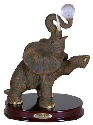 Elephant with Crystal Ball Figurine - Collectible Animal Figurine  RAI 95053
