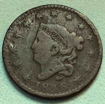 1816 Large Cent N3 Scarce Variety Nice FREE SHIPPING