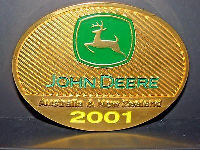 John Deere Australia NZ 2001 Expo 1 DEALER  Belt Buckle Sharpe's Tractor Centre
