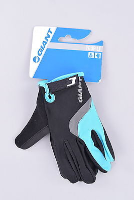 NEW Giant Tour Long Finger Cycling Gloves | Large | Black/Blue