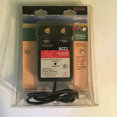 New ZAREBA ACC2 Two Mile Electric Fence Controller