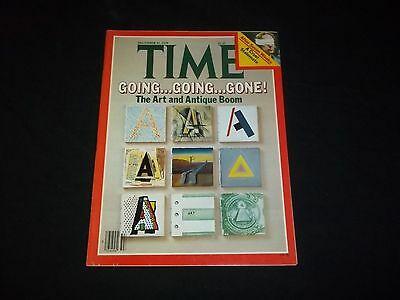 1979 December 31 Time Magazine - The Art And Antique Boom - Great Cover - F 1386