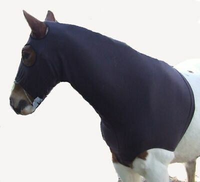 Ecotak Brown polar fleece horse hood with bib Ecotak