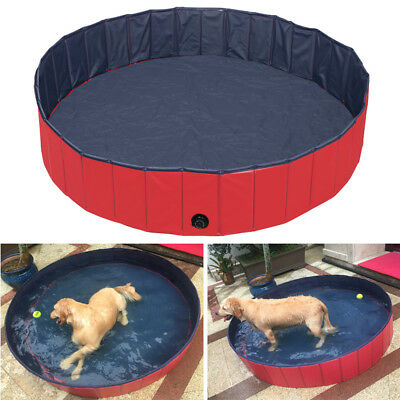 Red Pet Pool Dog Pool Swimming Pool Portable Tough and Sturdy Dia. 80/120/160cm