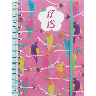 A5 Colourful Bird Academic Diary 17-18 - Day A Page, New Arrivals, Brand New
