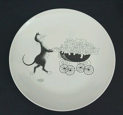 NEW Rare Dubout EDITIONS CLOUET Cat Kittens Collector Plate 23032 Is-sur-Tille