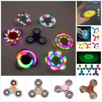 Kids Fidget Hand Spinner LED Light Adult Stress Reliver Gyro Ball Toy ADHD Focus