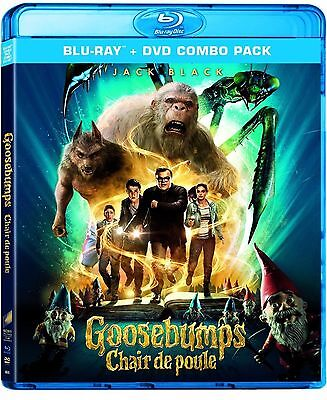 Goosebumps (Blu-ray Disc, 2016, 2-Disc Set, Canadian) BRAND NEW SEALED
