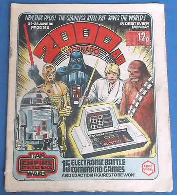 Vintage 2000Ad Comic Star Wars Empire Strikes Back Cover 1980 Battle Command