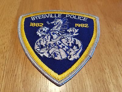 """Byesville Ohio Police 4 X 4"""" Patch 1882-1982, New"""
