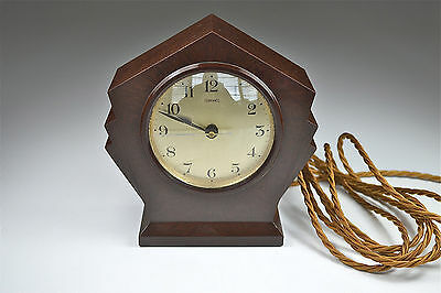 Art Deco bakelite Ferranti mantle clock working with new braided cord c.1920-30
