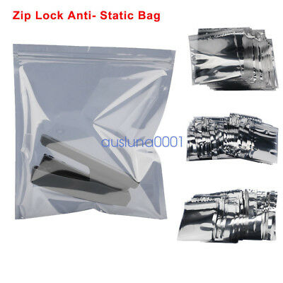 100PC Anti Static ESD Pack ZIP LOCK Shielding Bag For Motherboard Electronics