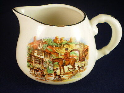 The Old Sly Fox Hunting Scene Small Creamer