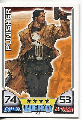 Marvel Hero Attax Series 1 Base Card #109 Punisher
