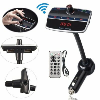Car Kit MP3 Music Player Wireless Bluetooth FM Transmitter Dual USB Hands-free