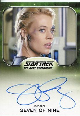 Star Trek Aliens Autograph Jeri Ryan as Seven of Nine