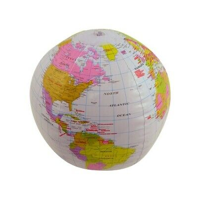 Inflatable Blow Up Globe 40CM Earth Atlas Ball Map World Geography Educational