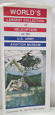 Vtg Brochure World's Largest Collection of Helicopters U.S. Army Aviation Museum