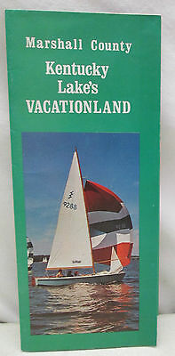 Vintage Brochure Marshall County Kentucky Lake's Vacationland Benton Map