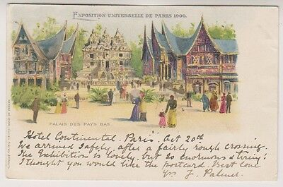 Paris Exhibition 1900 postcard - Palais des Pays Bas - P/U