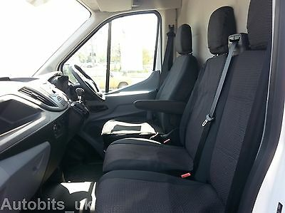 Ford Transit Custom 2013 + Seat Covers Premium Black Fabric Tailored To Fit
