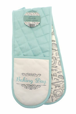 Country Club Baking Day Double Oven Glove Mitt Vintage Retro Design Baking Cook