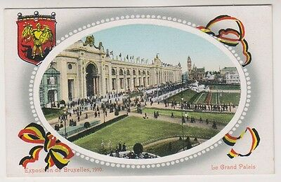 Bruxelles Exhibition 1910 postcard - Le Grand Palais