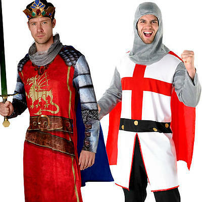 Fairy Tale Knights Mens Fancy Dress Story Book Day Medieval Tudor Adults Costume