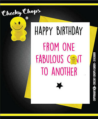 Birthday  Funny Comedy Novelty Rude Cheeky Chops Cards Offensive  - C919
