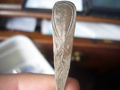 Rare Ancient Tea Spoon From A  House Clearance  Small Silver Collection Find