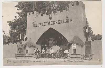 Gand Exhibition 1913 postcard - Le Village Senegalais