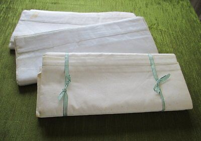 Vintage Sheets 100% White Cotton - Coll. Of 4-Unused
