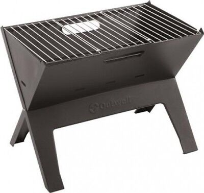Outwell Cazal Portable Folding Travel BBQ Grill Steel - Camping Outdoor Cooking
