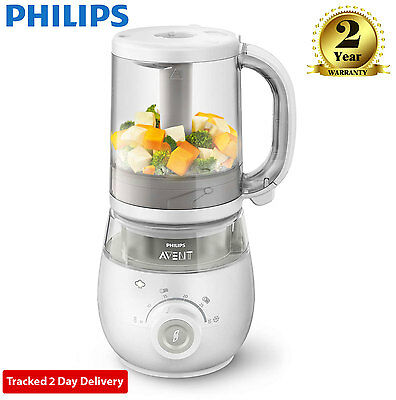 Philips AVENT 4-in-1 Baby Food Maker Steam Blend Defrost Reheat SCF875/01
