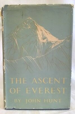 JOHN HUNT - THE ASCENT OF EVEREST - 1953 1st EDITION MOUNTAINEERING BOOK