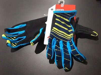 Specialized Lodown Mountain Bike Full Finger Cycling Gloves Blue Hyper Green L