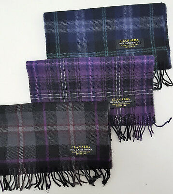 Half Price SALE Passion Of Scotland Tartan Scarf 3 Tartans 100% Lambs Wool