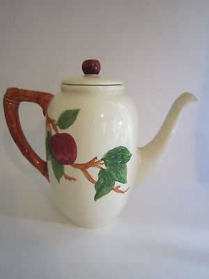 Vintage Franciscan Ware Apple Ceramic Dinnerware Coffee Pot Early Mark