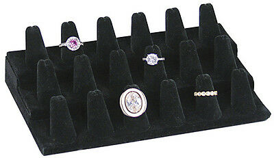 18 FINGERS RING DISPLAY BLACK VELVETJEWELRY  SHOWCASE Pawn Shop STAND SALE