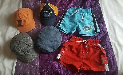 Baby boy Shorts and hats 12-18 & 12-24 months pumpkin patch, mini mod, Thomas