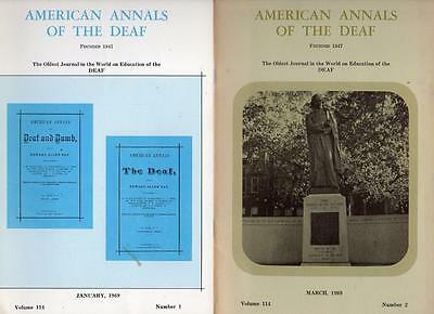 American Annals of the Deaf Volume 114, Number 1 and 2 1969