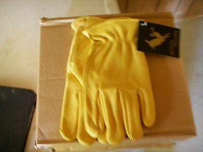 Unlined Deeskin Leather Work Gloves High Quality Free Shipping Deer Leather