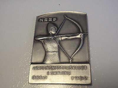 World championship in shooting Oslo Norway 1952 medal plaque