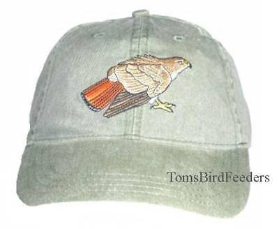 Red-tailed Hawk Embroidered Cotton Cap NEW