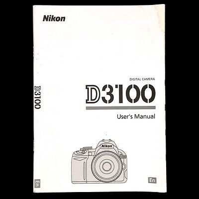 Nikon D3100 Digital Camera User's Instruction Manual / Book, English #39912
