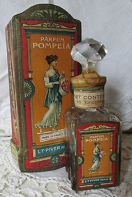 Antique French Perfume L.T. Piver ~ POMPEIA Parfum  Sealed Bottle + Original Box