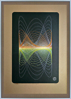 Large Ten Colour Signed Print - Abstract Geometric Sound Art Op Saville Peter