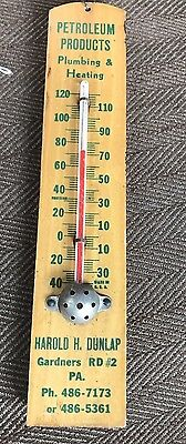 Vintage Advertising Thermometer Wood 7 1/2""