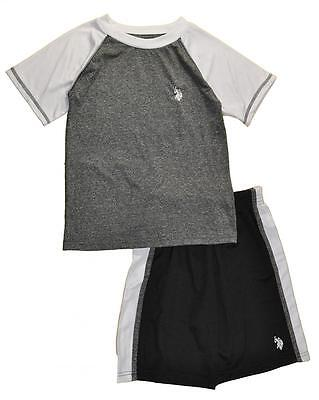 US Polo Assn Toddler/Little Boys Black/White Short Set Size 2T 3T 4T 4 5/6 7