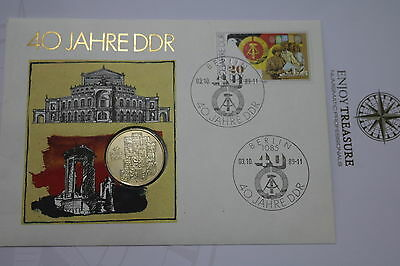 Germany Ddr 10 Mark 1989 Coin Cover A63 Cov84